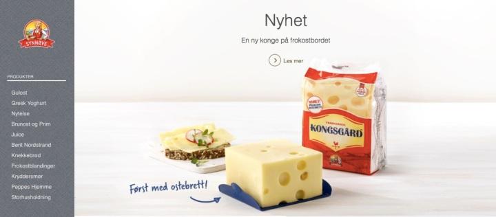 Nei Synnøve Finden, dette er ikkje god marknadsføring i 2016.